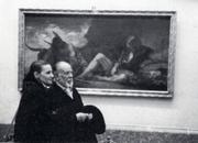 Ramón Gaya e Isabel Verdejo en el Museo del Prado
