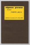 Algunos Poemas del pintor Ramón Gaya